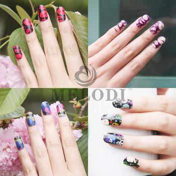 Free Shipping Sale Fashion Melodi Brand Beauty Finger Nail Stitckers Oil Film Stars Stickers Nail Art Finger Print Wholesale