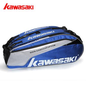 free shipping ! top quality Badminton bag KAWASAKI 6 backpack belt thermocase independent shoe  ,1 pcs price,free gift random
