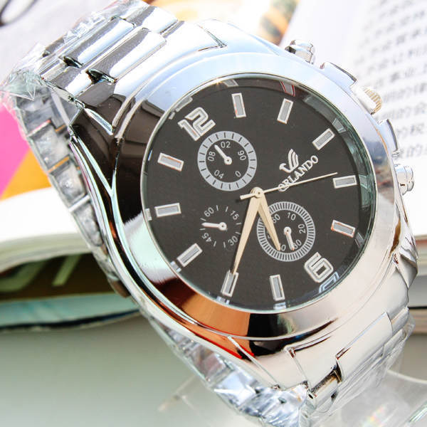 luxury fashion Wristwatches men electronic watches business Stainless Steel classic free shipping(China (Mainland))