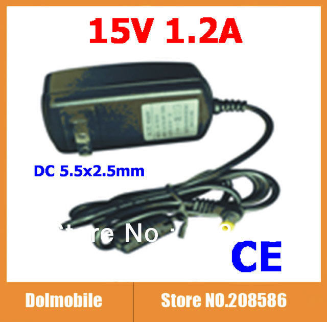 100pcs with CE Certification Customized Power Adapter Power Supply AC 100-240V 15V 1.2A 18W DC 5.5x2.5mm EU US DHL Free Shipping(China (Mainland))