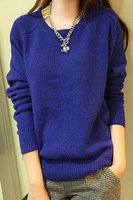 Fashion design feeling small 2013 all-match pullover solid color rabbit fur sweater