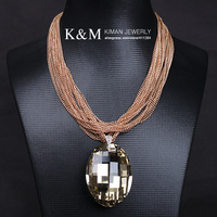 New arrival crystal luxurious big crystal chains necklace 2 colors FREE SHIPPING Ni/Pb free, Mix order accepted, MOQ is $20