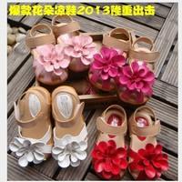 2014 summer children girls sandals shoes Flower baby sandals princess shoes