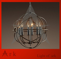 RH Loft Foucault pendant light  wrought iron pendant light for living room