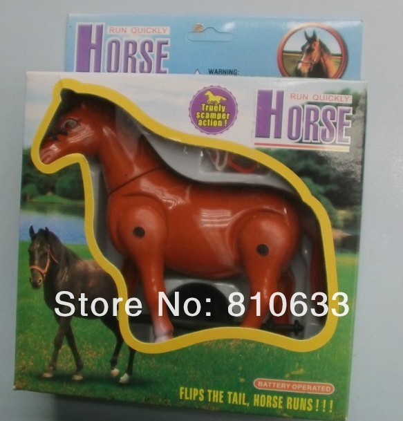 free shipping 2013 new hot plastic toys for kids Electric zebra toy horse toys smart(China (Mainland))