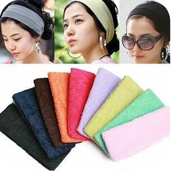 1PCS Free shipping   yoga hair band candy color toweled sports headband B0130