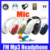 HI-FI Sports MP3 Player PC/Computer Wireless Digital Headphone Headset TM-911 TF Card Reader FM+Micrphone,Freeshipping