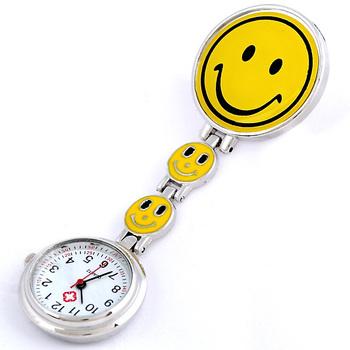 Fashion smiley nurse table pocket watch pocket watch gift table lovely watch smiley pocket watch