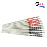 Free Shipping Stainless steel belt decorative pattern chopsticks quality  metal chopsticks 23cm