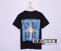 Top Quality !  Men Nude T-shirt Bird of Paradise Print T-shirt Shirts Cotton Short Sleeve T-shirt Tops Tank Tees