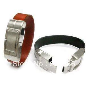 Free Shipping! Leather PU Bracelet USB Flash Pen Drive  1GB 2GB 4GB 8GB 16GB 32GB 100% Full capacity