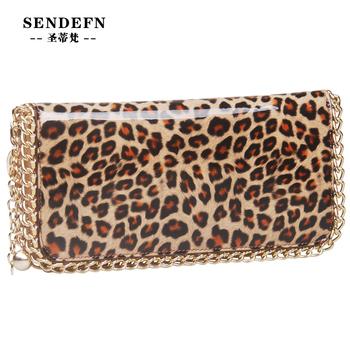 2014 hot sale fashion wallet female long design leopard print zipper wallet  Genuine Leather women's wallet clutch cheap