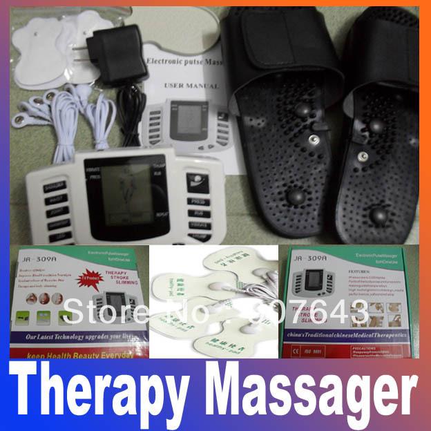 Estimulador elétrico Full Body Relax Muscle terapia Massager massagem pulso dezenas acupuntura máquina de emagrecimento de saúde 16 almofadas