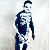 Lycra spandex Skull zentai all-inclusive tights full body halloween costume