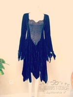 Vintage vintage velvet lace horn long-sleeve royal princess dress full dress jumpsuit