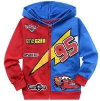free shipping Children cartoon Cars childrens clothing boy's girl's top shirts Zipper cardigan Hooded Sweater hoodie coat jacket