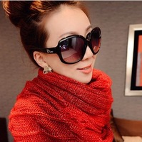 Free shipping Star style fashion women's big box polarized sunglasses large sunglasses sun glasses