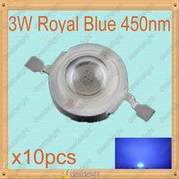 Epiled 45mil 10PCS 3W Royal Blue High Power LED Emitter chip 450-455NM Without Heatsink for Plant Grow Cabinet Tank Aquarium