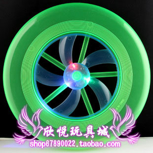 Child outdoor toys flash belt luminous rotating flywheel lantern ufo frisbee flying saucer frisbee