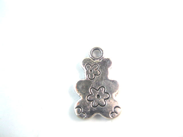 Zinc Alloy silver charms/pendants accessories Free Shipping Bear pendants Charms jewelry a1177(China (Mainland))