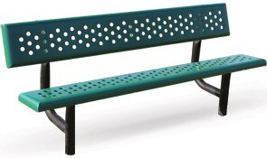 metal benches for community,L1800MM,WITH zinc coating and then painting,coffe color(China (Mainland))