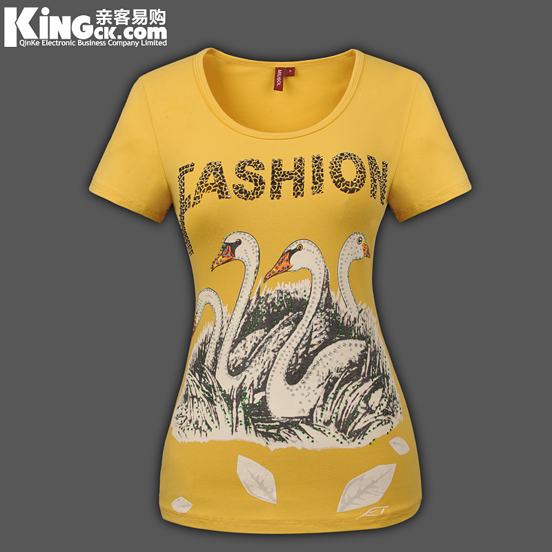 New arrival 2013 fashion o-neck slim T-shirt short-sleeve shirt rustic women&#39;s short-sleeve plus size clothes lady Tee Tops(China (Mainland))