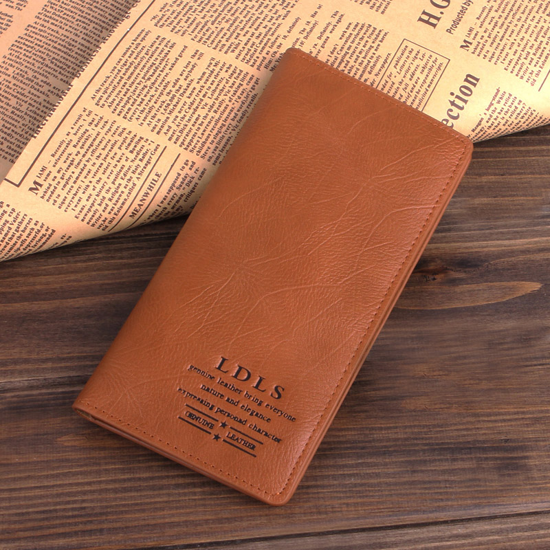 Cowhide wallet male genuine leather fashion multi long design card holder wallet commercial purse(China (Mainland))