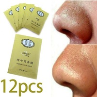100% works 12 pcs Herbal Deep Cleansing Nose Pores Blackhead Remove Mask Face For Skin Care Free Shipping For Women Men