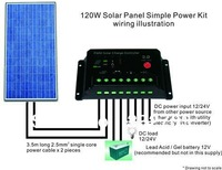 120W Simple Solar Panel Power Kit
