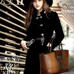 Hot 2013 new Europe and the United States tide leather female bag crocodile grain ostrich grain shoulder hand aslant female bag(China (Mainland))