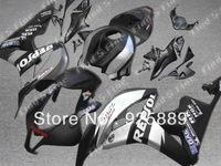 Injection mold silver black body for HONDA CBR600RR 07 08 CBR600 07-08 CBR 600RR 2007-2008 600 RR F5 2007 2008 fairing kit