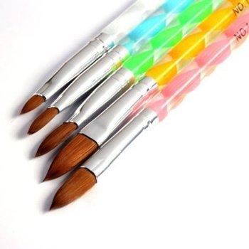 5pcs Acrylic Nail Art UV Gel Carving Painting Draw Pen Brush Liquid Powder DIY Tool
