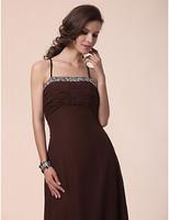 Stunning A-line Spaghetti Straps Floor-length Chiffon Bridesmaid Dress