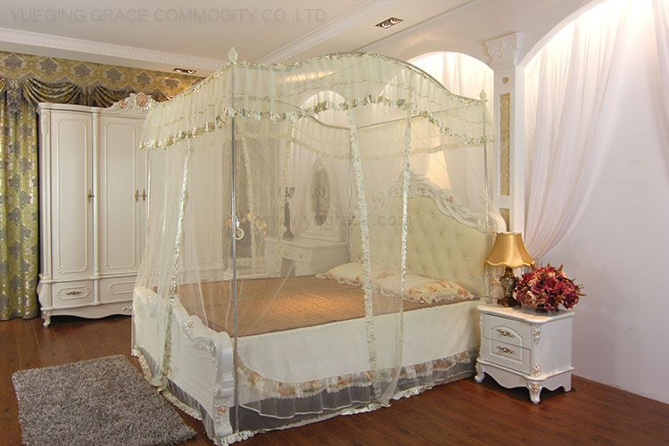 Luxury three door stainless steel tubes French mosquito net 1.2 1.5 1.8 meters(China (Mainland))
