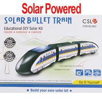 Freeshipping DIY Educational Assembly Solar Powered Bullet Train Toy Kit Chrismas Gift ,Dropshipping wholesale