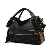 Free shipping 2013 Fashion bag casual leopard print paillette bag women's handbag H990