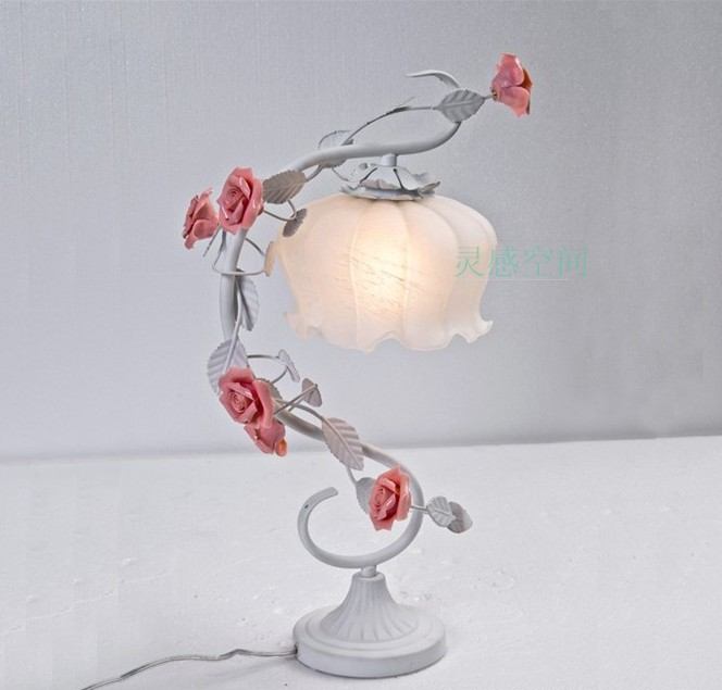 Rustic flowers and plants decoration lamp living room lights(China (Mainland))