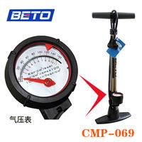 Beto bicycle floor type vertical pump household high pressure pump belt pressure gauge cmp-069