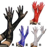 Charm sexy women's jacquard small mesh short-sleeve gloves  Free Shipping