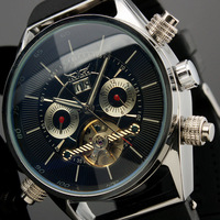 2013 New High Class Man's Elegant Automatic Mechanical Rubber Men's Wrist Gift Watch Free Shipping