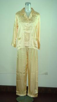 Free Shipping Women's Pyjama Robe Faux Silk 2pc Nightwear Robe Bath Gown Wholesale Retail S M L XL XXL  S107