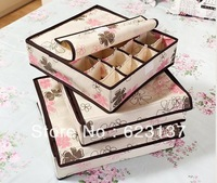 Beautiful bra underwear storage box set