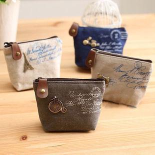 Wholesale,linen Zipper coin purses,Coin Wallet Purse Bags,Zero Wallet,special gift