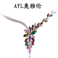 13 necklace fashion jewelry luxury dinner women's short design