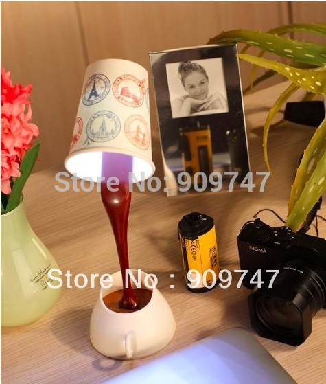 Hot Christmas Gifts table lamps,computer USB LED Coffee Cup Lamp,novelty DIY LED night lamp table home decoration free shipping(China (Mainland))