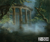 Mysterious Forest Backdrop, 10ft x 20ft Hand Painted Photography Background
