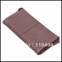 Genuine soft cow leather clutch frames men bag
