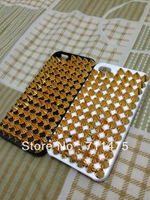 New diamond stud case for iPhone 5G Crystal free shipping Handmade Pyramid Studs Spikes Ladder Cover Case For iPhone 5 5G