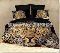 2013 hot sale panther print 4pcs 100% cotton 3D bedding set