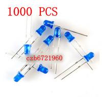 Wholesale IC components 1000Pcs LED 3MM BLUE COLOR BLUE LIGHT Super Bright Free Ship